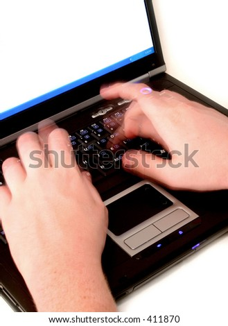 Endless Typing - stock photo