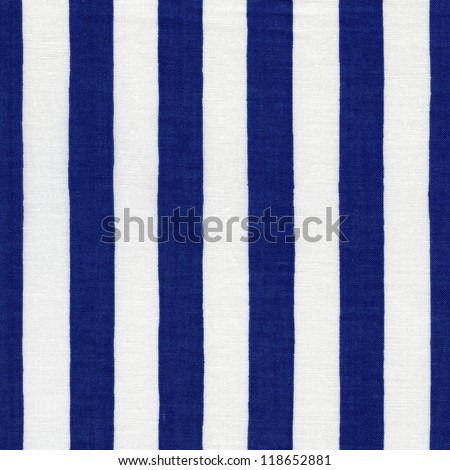 Endless white and blue striped fabric - stock photo