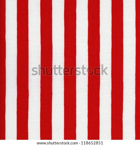Endless white and red striped fabric - stock photo