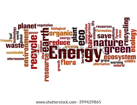 Energy alternative, word cloud concept on white background.  - stock photo