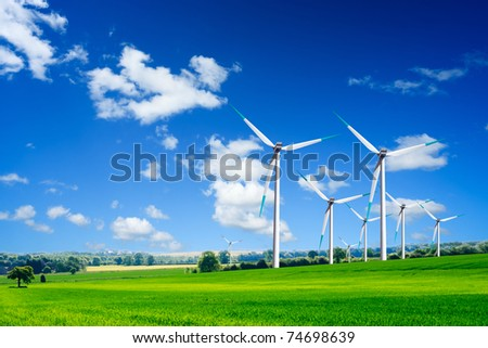 Energy and ecology - stock photo