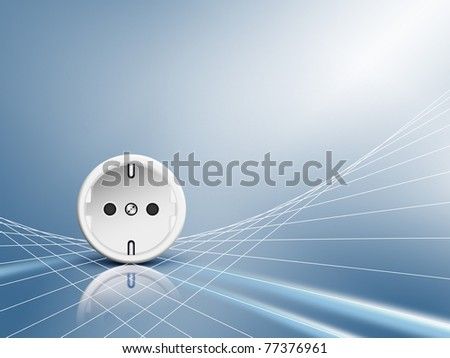 Energy and electricity background - stock photo