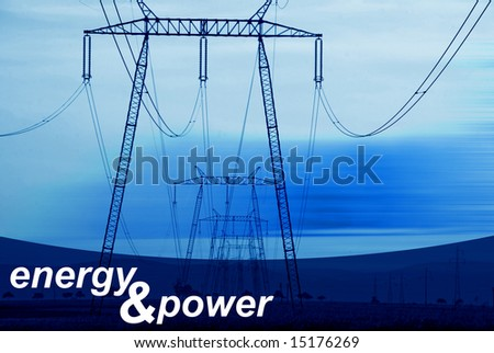 Energy and Power - blue abstract photo illustration - stock photo