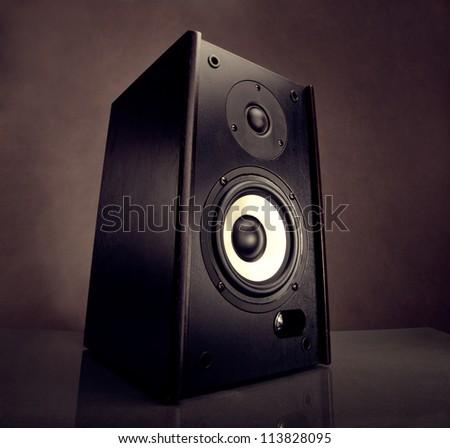 Energy audio speaker - stock photo