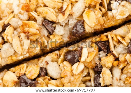 Energy bar close up for background use