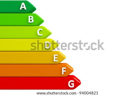 Energy chart with clipping path - stock photo