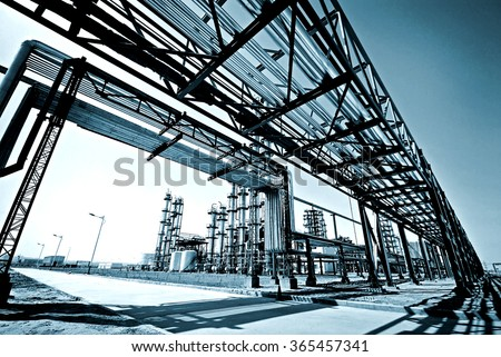 Energy companies in the pipeline equipment - stock photo