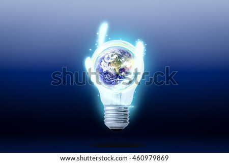 Energy conservation and environmental concept, Elements of this image furnished by NASA