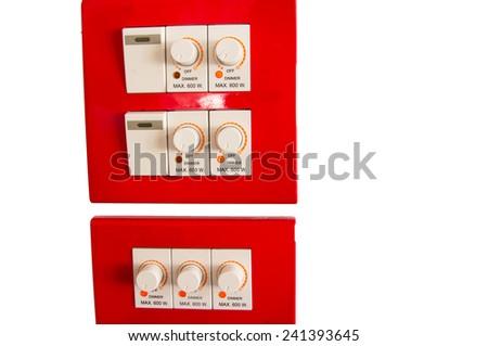 Energy control isolated on white background - stock photo