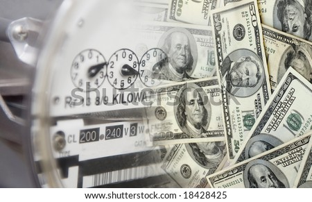 Energy costs lots of money - stock photo