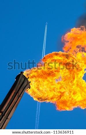 Energy dependence on mining - stock photo