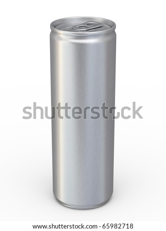 energy drinks cans (clipping path) - stock photo