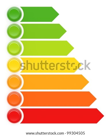 Energy efficiency concept with buttons. See my portfolio for more similar images. - stock photo