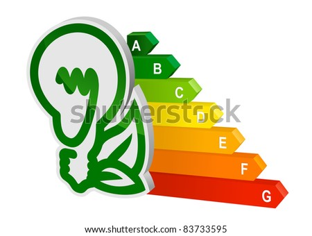 Energy efficiency graph for ecology and environment design. Vector version also available in gallery - stock photo