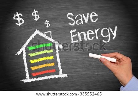 Energy Efficiency Home - Save Energy - stock photo