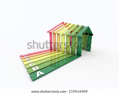 energy efficiency houses - stock photo