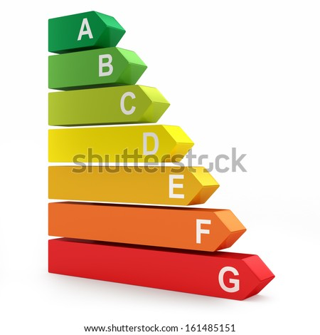 Energy efficiency rating - stock photo