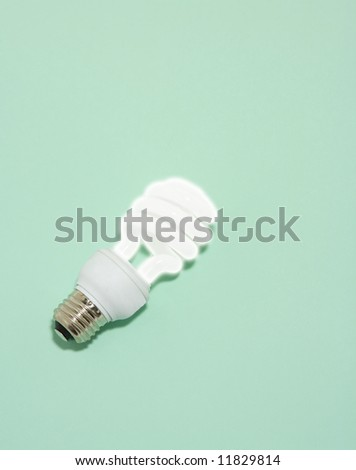 Energy Efficient Compact Fluorescent Bulb - stock photo