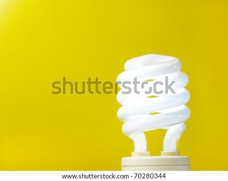 energy efficient light bulb - stock photo