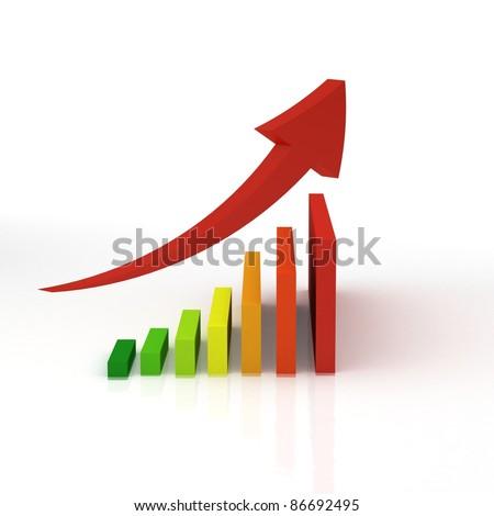 energy graph - stock photo