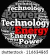 Energy info-text graphics and arrangement concept on white background (word cloud) - stock vector