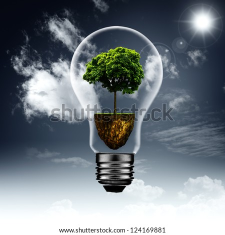 Energy inside. Abstract eco backgrounds for your design - stock photo