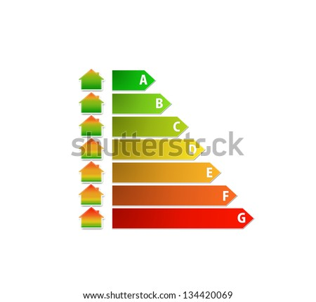 energy performance scale with house in color gradient