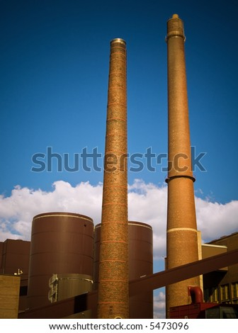 Energy production/consumption - coal plant - stock photo