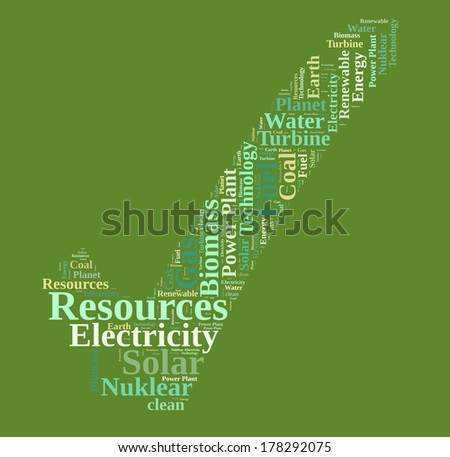 ENERGY resources word cloud