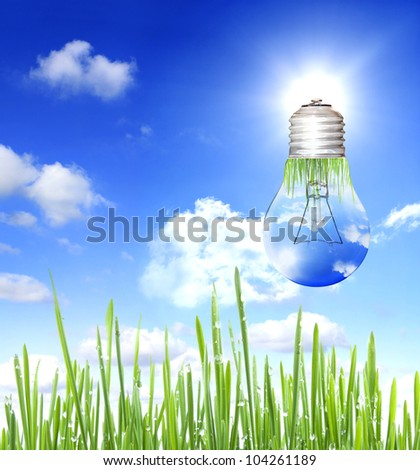 energy save background concept - stock photo