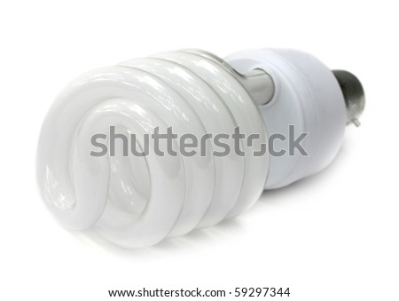 Energy saving bulb - stock photo