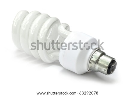 Energy saving bulb over white background - stock photo