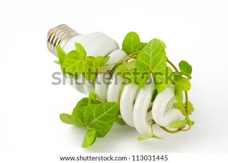 Energy saving concept - stock photo
