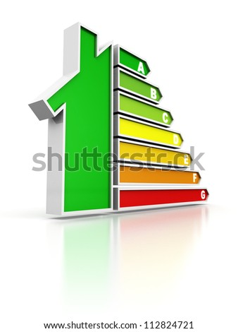 energy saving concept with house icon - stock photo