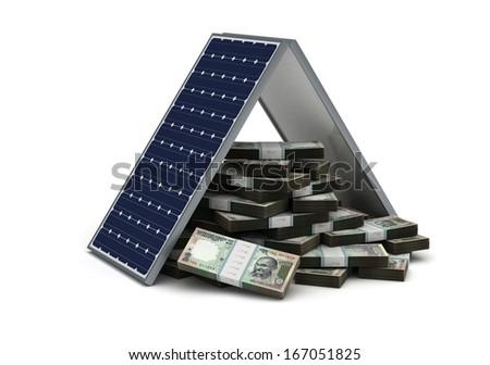 Energy Saving for Rupee - stock photo