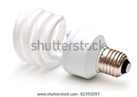 Energy saving lamp - stock photo
