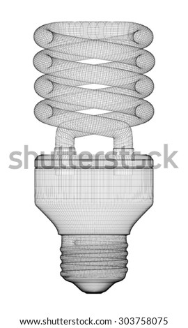 Energy saving lamp, body structure, wire model ,