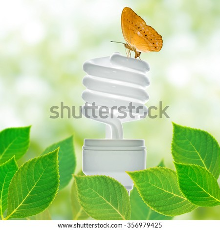 Energy saving lamp concept - stock photo
