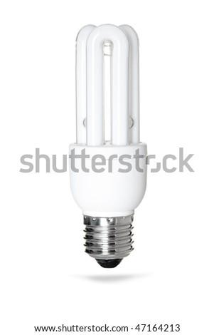 Energy saving lamp. Isolated on white background - stock photo