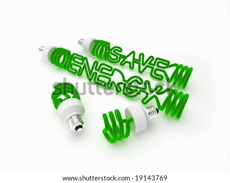 energy saving light. isolated. - stock photo