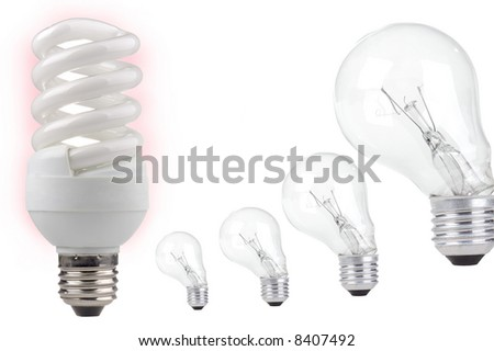 energy saving on a white background