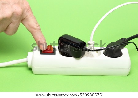 energy saving, to switch off a socket