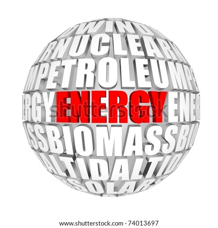 energy space - stock photo