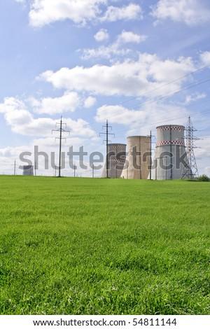 energy station - stock photo