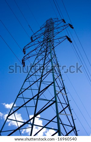 Energy tower - stock photo