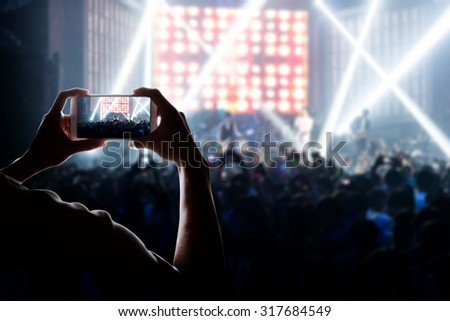engage your audience with the power of social network - stock photo