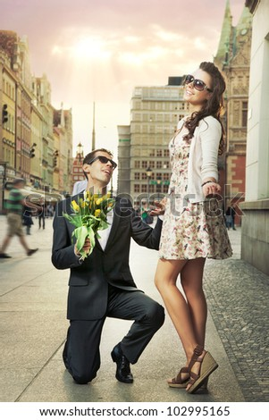 Engagement proposal - stock photo