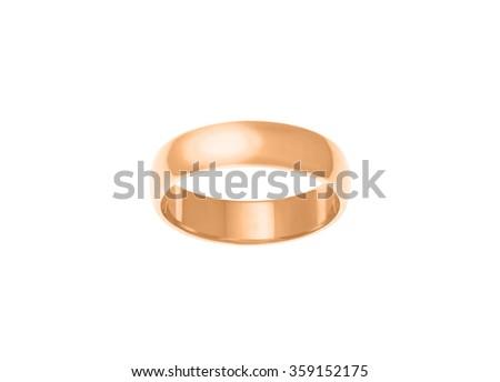 Engagement ring isolated on white... - stock photo