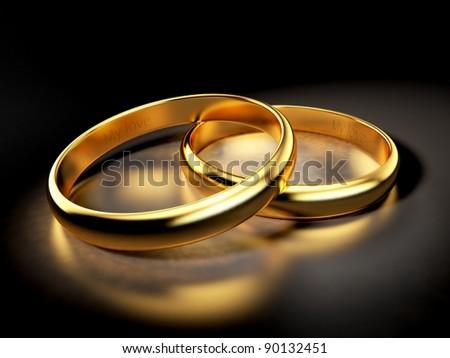 Engagement rings. Romantic scene - stock photo
