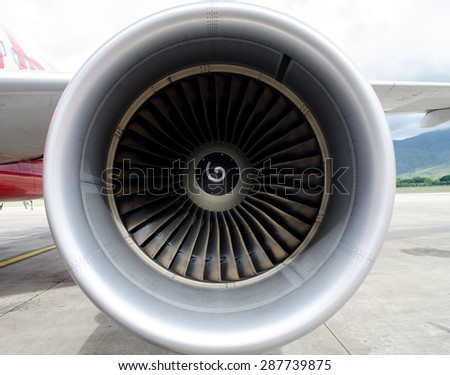 Engine airplane  airbus background
